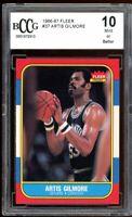 1986-87 Fleer #37 Artis Gilmore Card BGS BCCG 10 Mint+