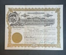 1937 Salmon River Mining and Milling Company Idaho Stock Certificate