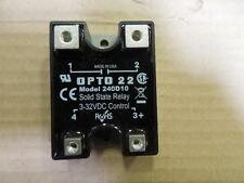 Opto 22 240D10 Solid State Relay (SSR), 240 VAC, 10 Amp, DC Control