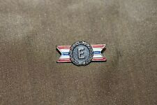 """Original WW2 U.S. Home Front War Production """"E"""" Award Pin, Sterling Marked"""