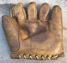 Vtg 30s CHARLIE ROOT Marathon Baseball Glove Tunnel Loop Mitt Chicago Cubs Rare