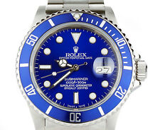Rolex Submariner 16610 BLUE Custom Bezel & Dial Stainless Steel Mens Dive Watch