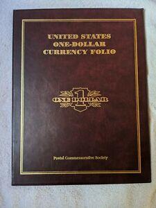 U.S. Uncut One Dollar Currency Block & Star Notes Folio Plus 1995 Bill
