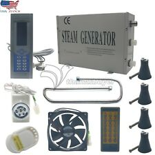 3KW Steam Generator Sauna Bath Home SPA Shower with Remote Control US Ship