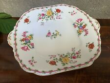Vintage Aynsley Sandwich Cake / Sandwich Serving Plate  flowers and clover
