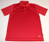Mens Callaway X Series Short Sleeve SS Golf Polo Shirt Medium Red Tennis Solid