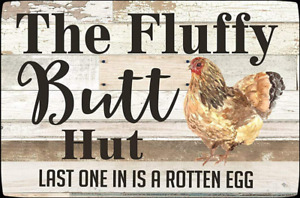8x12 Inch Home Funny Chicken Coop Sign Chicken Metal Tin Sign Wall Plaque