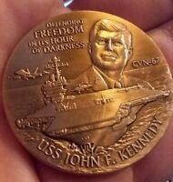 "USS John F Kennedy ""Defending Freedom"" Challenge Coin CV-67 JFK US Navy"