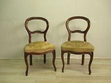 Coppia di sedie Luigi Filippo in noce massello  - epoca metà 800