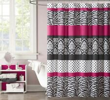 Shower Curtains For Teens Polka Dots Stall Hot Pink Black White Stripe Zebra Tub