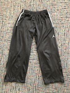 Nike AIR JORDAN Jumpman Logo Classic Loose Fit Sweatpants Black XXL 2XL Flaws