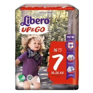 Pannolini Libero Up&Go 7 (16-26 kg) 1 pacco (16 pz) o 4 pacchi (64 pannolini)