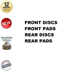 MINTEX FRONT + REAR BRAKE DISCS + PADS SET for CITROEN DISPATCH