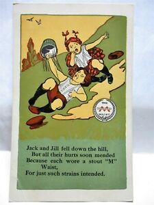 1915 AD POSTCARD MINNEAPOLIS WAIST, JACK AND JILL, MINNEAPOLIS KNITTING WORKS