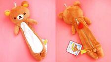 Soft Kawaii Rilakkuma Zip Pencilcase Plush Japanese Bear Pouch San-X Kuma Japan