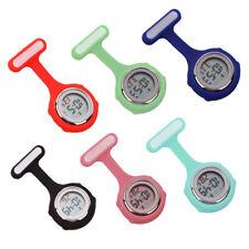 Colorful Multi-function Digital Silicone Rubber Nurse Watch Fob Pocket Watch AU