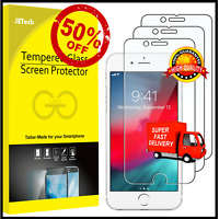 JETech Screen Protector for iPhone 8/7/6/6s Tempered Glass Film 3-Pack