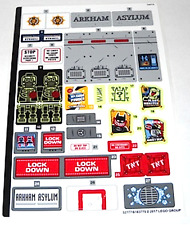 LEGO Sticker Sheet 70912 Arkham Asylum Batman Movie DC Comics Superheroes New