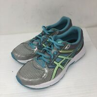 Asics Women's Size 9 Blue Gel Contend 3 Lace Up Athletic Running Shoes T5F9N
