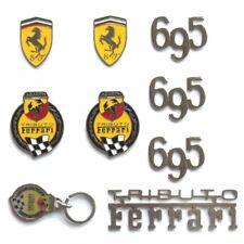 KIT FREGI BADGE FIAT 500 ABARTH 695 TRIBUTO FERRARI logo tribute homenaje