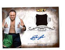 WWE Samoa Joe 2016 Topps Undisputed Bronze Autograph Relic Card SN 22 of 99