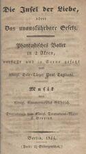 *19TH CENTURY BALLET: MARIE & PAUL TAGLIONI RARE ORIGINAL 1844 BALLET LIBRETTO*