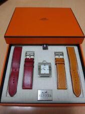 HERMES belt ladies' watch BE1.210 white square dial orange belt luxury fashion