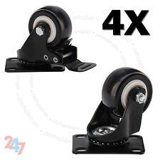 New 4x Heavy Duty 200kg 50mm PU Swivel Castor Wheels Trolley Caster Rubber S247