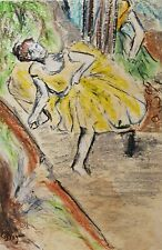 Special Edgar DEGAS drawing, signed
