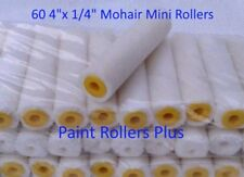 "60 Mohair Mini Paint Rollers 4"" x 1/4"" Free Ship"