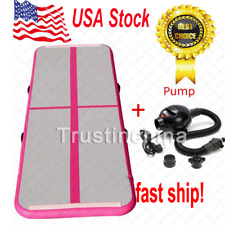 USA Air Track Floor Home Gymnastics Tumbling Mats Inflatable GYM Mat Pink t