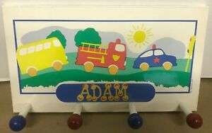 """13-3/4""""x 7-3/4"""" Clothes Coat Hook Hat Rack Kids Room Personalized Name Adam"""