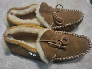 LL Bean Shearling Wicked Moccasin Slippers Men's M10