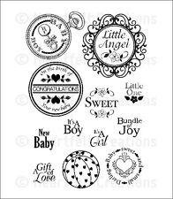 Sentiti creazioni TIMBRI SWEET LULLABY hcpc 3605 LITTLE ANGEL BOY GIRL