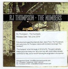 (EZ694) RJ Thompson, The Numbers - 2014 DJ CD