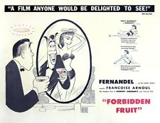 FORBIDDEN FRUIT (1959 US-release) Half sheet Fernandel, Arnoul art by Hirschfeld