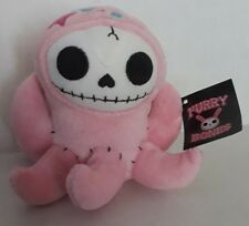 "Furry Bones 5"" Pink Octopus Octopee Plush Summit Collection Squid Skull Skeleton"