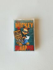 Mickey Mouse Mickey Unrapped USA Cassette Tape Rap Music Walt Disney Kids Vtg