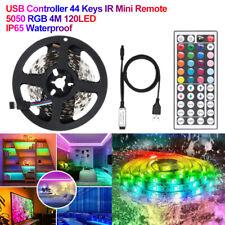 5050 RGB LED Strip Lights Room Bar TV Back Lighting Kit DC 12V USB Power 1M-5M