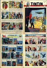 TINTIN  1949  BELGE n°     3 COUV HERGé/TINTIN OR NOIR AVION TENTE  BE+