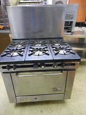 SOUTHBEND 6 BURNER GAS RANGE WITH OVEN, MODEL 300F, SPOTLESS INSIDE AND OUT