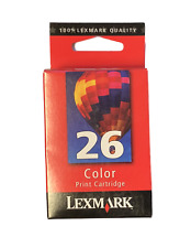 NEW Lexmark 26 Color Ink Cartridge - 10N0026 Genuine Retail Sealed