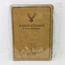 "Deer logo Smart Folio Slim Case Cover for iPad 9.7"" Camel Color"