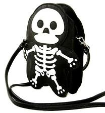 Cute Little Spooky Skeleton Black Bag Purse Goth Lolita Punk Kawaii Alternative