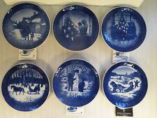 Set Of 6 Royal Copenhagen Christmas Plates 1980, 1981, 1983, 1984, 1985, 1986