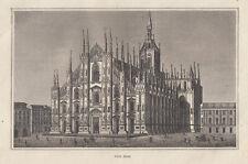 Milano, Duomo, 1834 bulino acquaforte