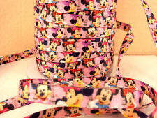 2 METRE MINNIE MOUSE SIZE 3/8 DOUBLE SIDED SHOE LACES RIBBON PERFECT HEADBANDS