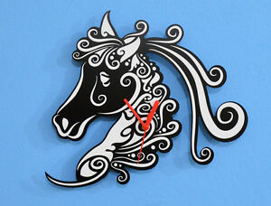 White Horse Silhouette - Wall Clock