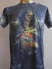 Minute Mirth Retro Vintage Skull Angel Gunmen Tattoo Men T shirt M