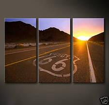 ROUTE 66 Leinwand Bilder Bild Deko Motorrad USA Neu Amerika Highway Freiheit XL